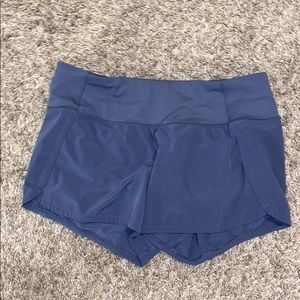 Bluish gray lululemon shorts